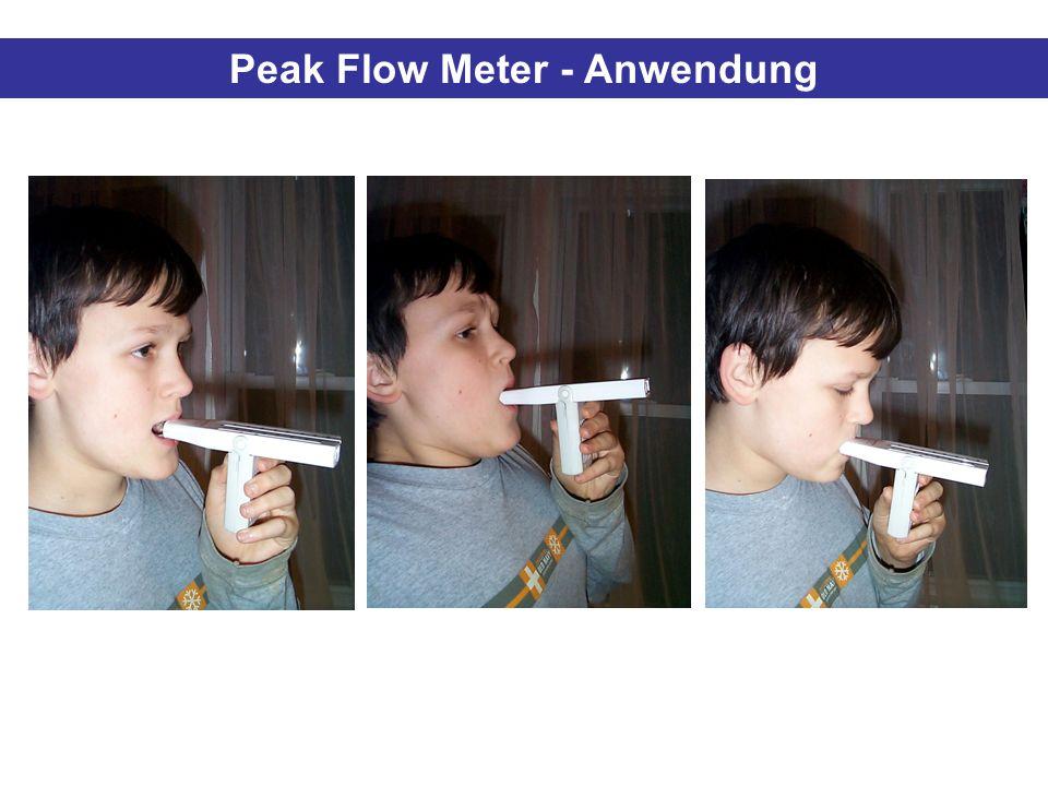Peak Flow Meter - Anwendung
