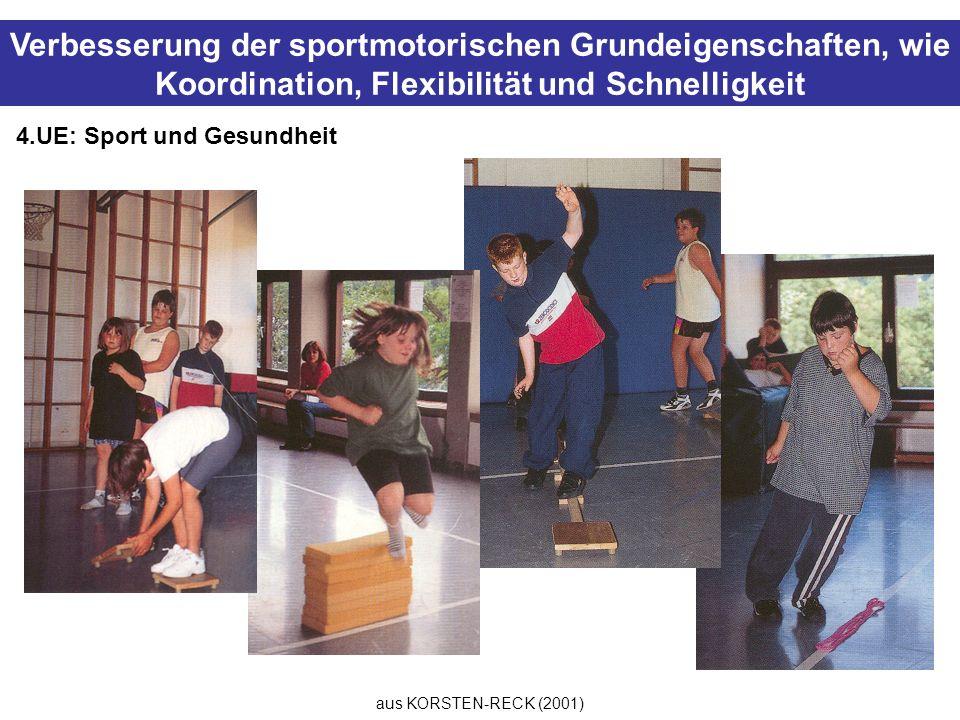 Verbesserung der sportmotorischen Grundeigenschaften, wie Koordination, Flexibilität und Schnelligkeit