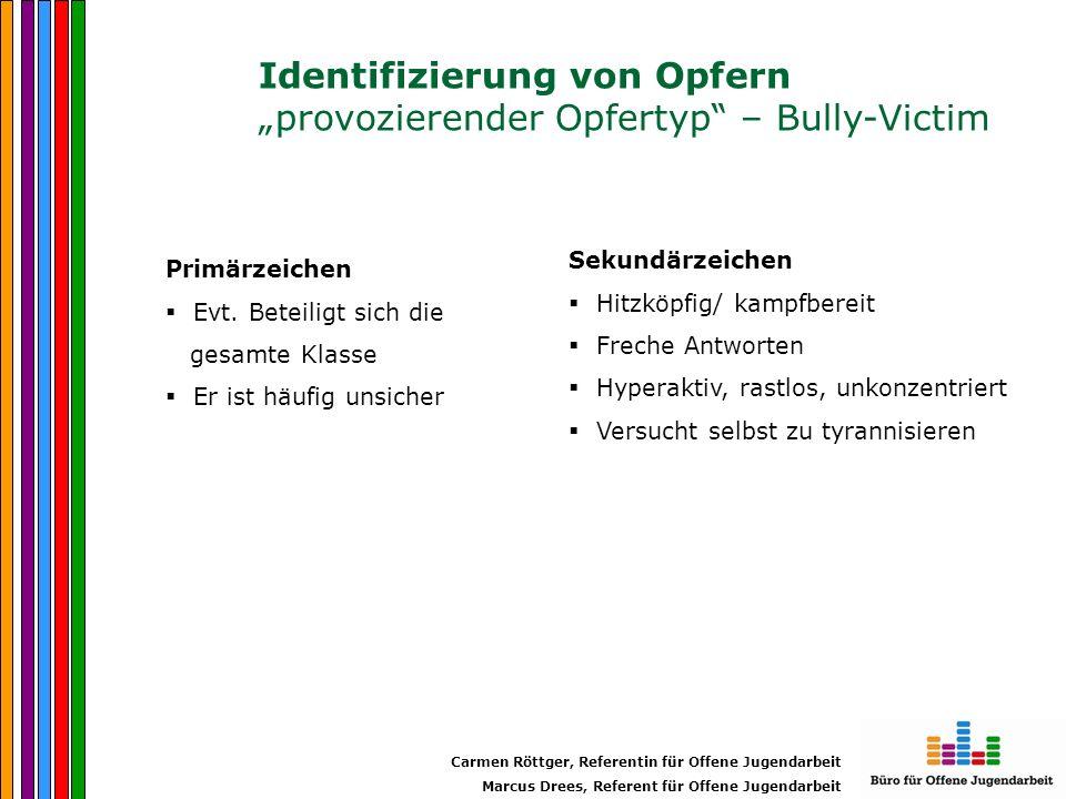 """Identifizierung von Opfern """"provozierender Opfertyp – Bully-Victim"""