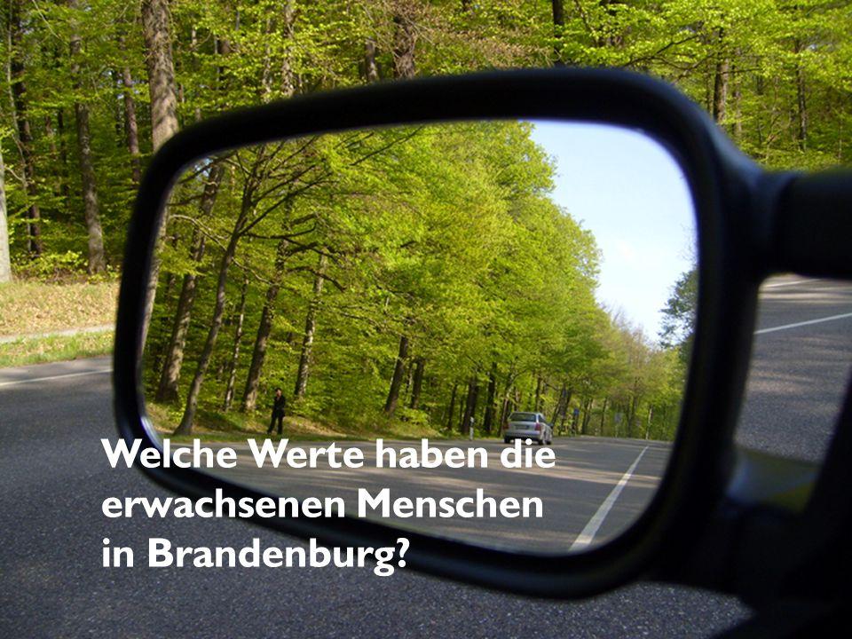 Welche Werte haben die erwachsenen Menschen in Brandenburg