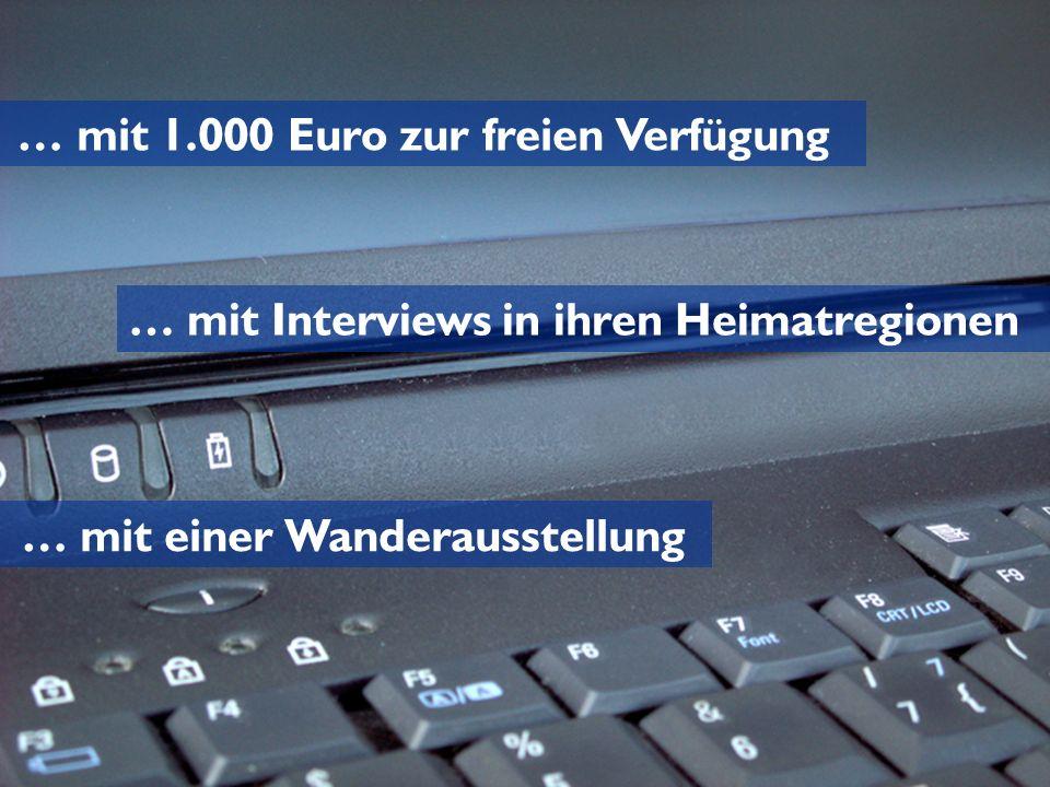 … mit 1.000 Euro zur freien Verfügung