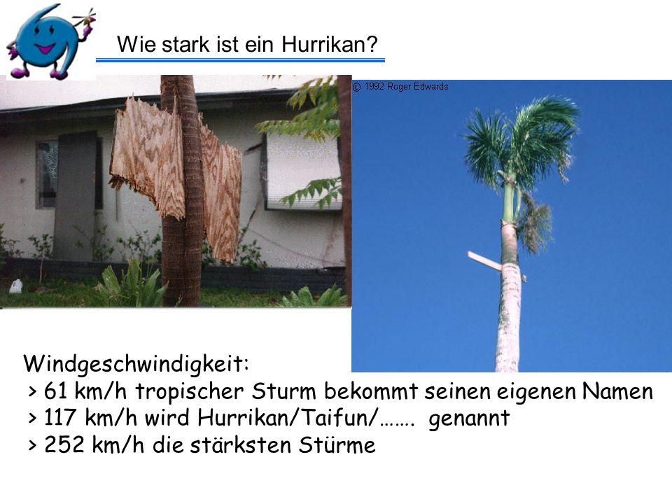 Wie stark ist ein Hurrikan