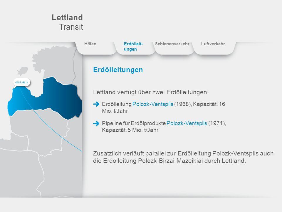 Lettland Transit Erdölleitungen