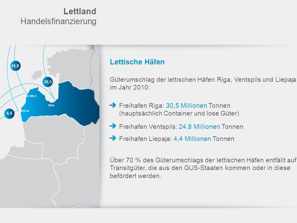 Lettland Handelsfinanzierung Lettische Häfen