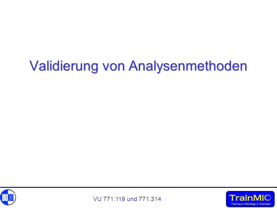 Validierung von Analysenmethoden
