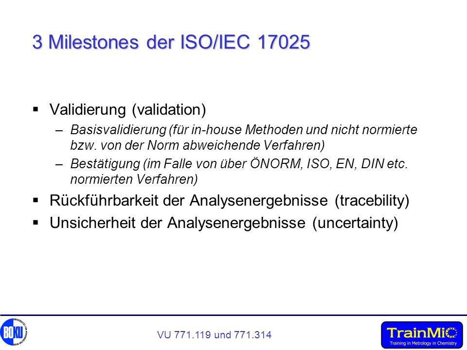3 Milestones der ISO/IEC 17025