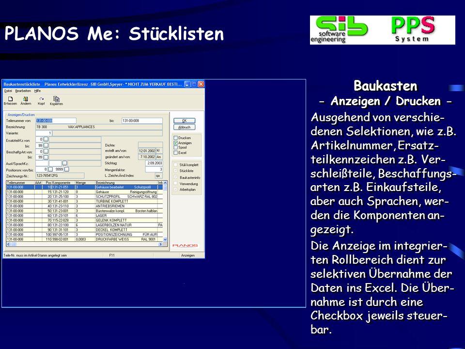 Baukasten - Anzeigen / Drucken -