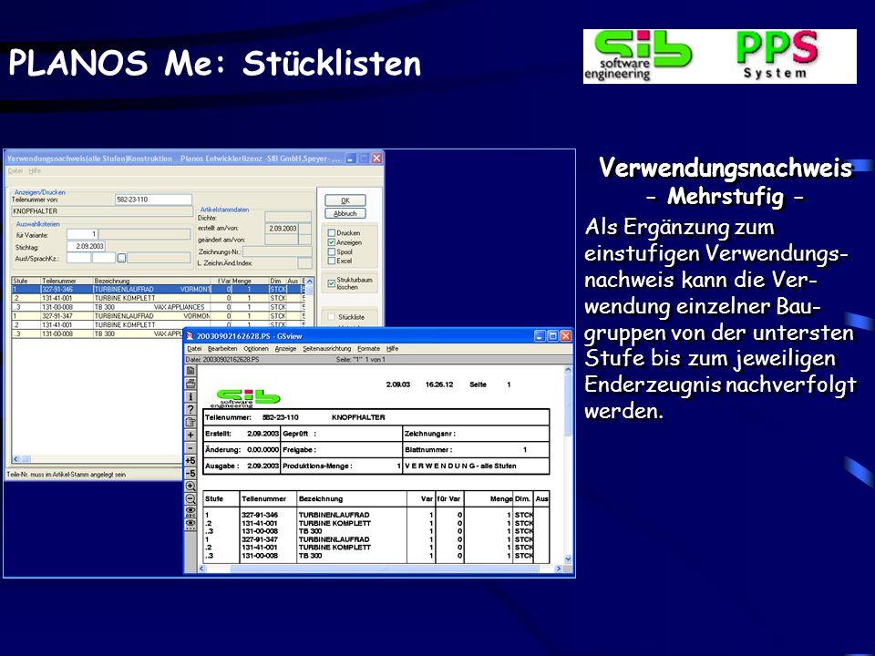 Verwendungsnachweis - Mehrstufig -