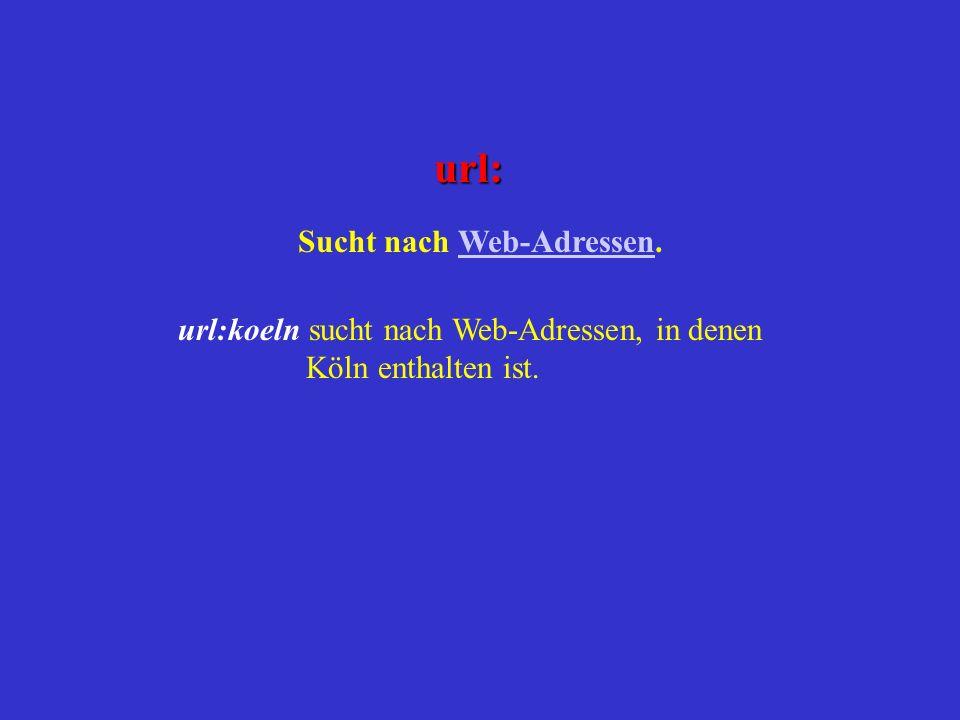 Sucht nach Web-Adressen.