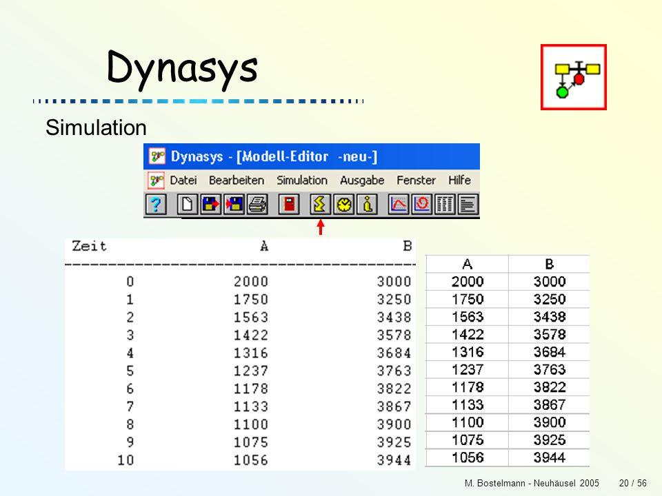 Dynasys Simulation M. Bostelmann - Neuhäusel 2005