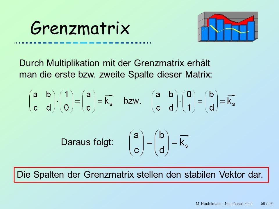 Grenzmatrix Durch Multiplikation mit der Grenzmatrix erhält