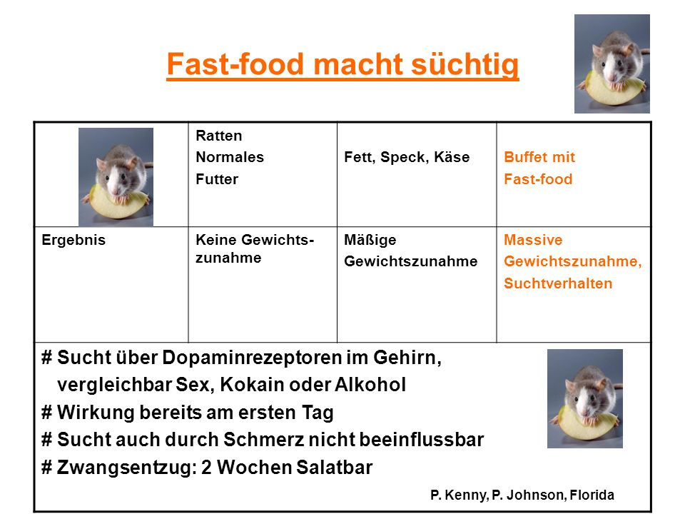 Fast-food macht süchtig