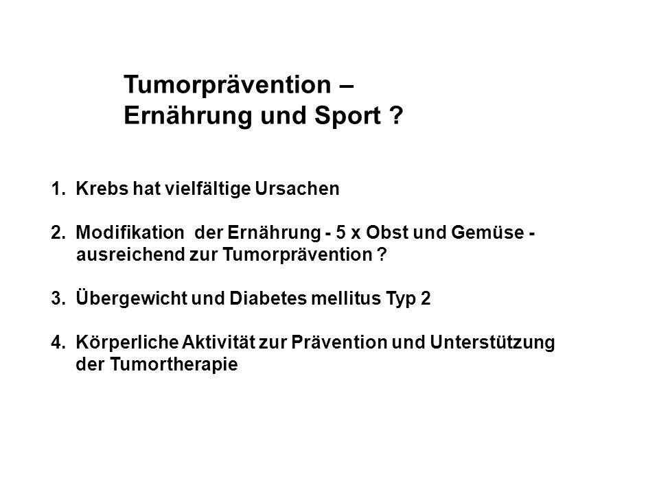 Tumorprävention – Ernährung und Sport
