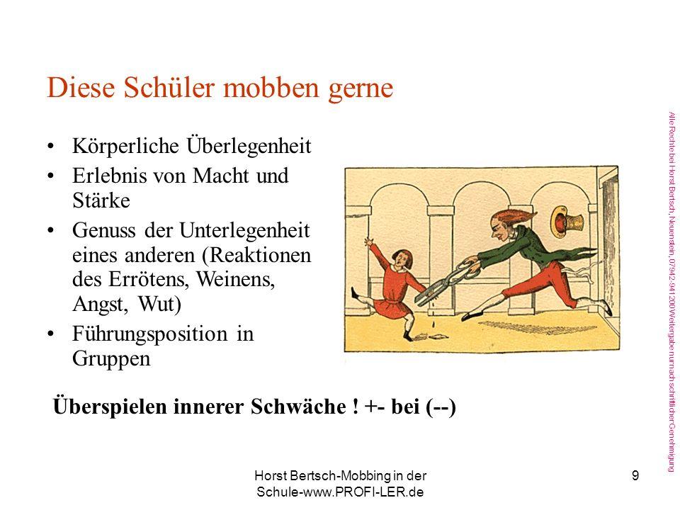 Horst Bertsch-Mobbing in der Schule-www.PROFI-LER.de