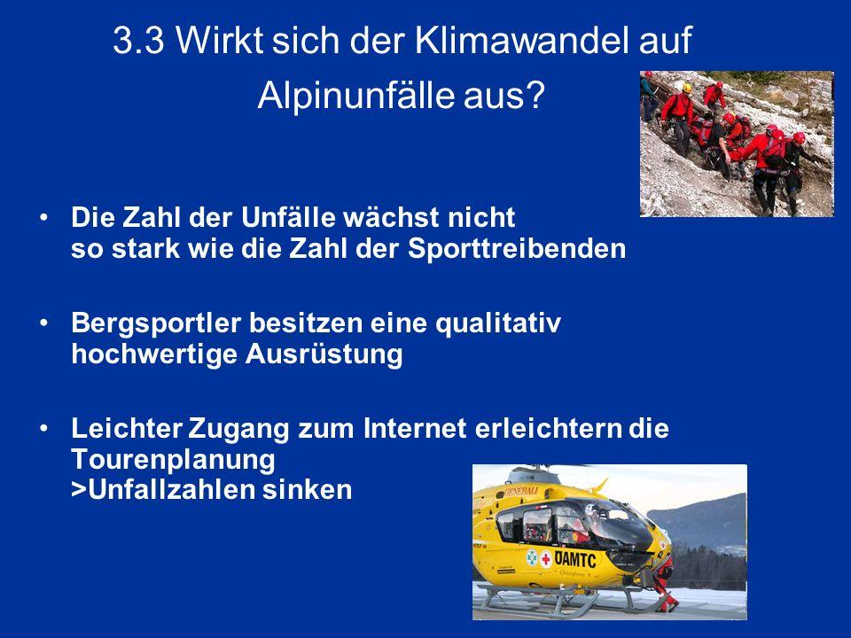 3.3 Wirkt sich der Klimawandel auf Alpinunfälle aus