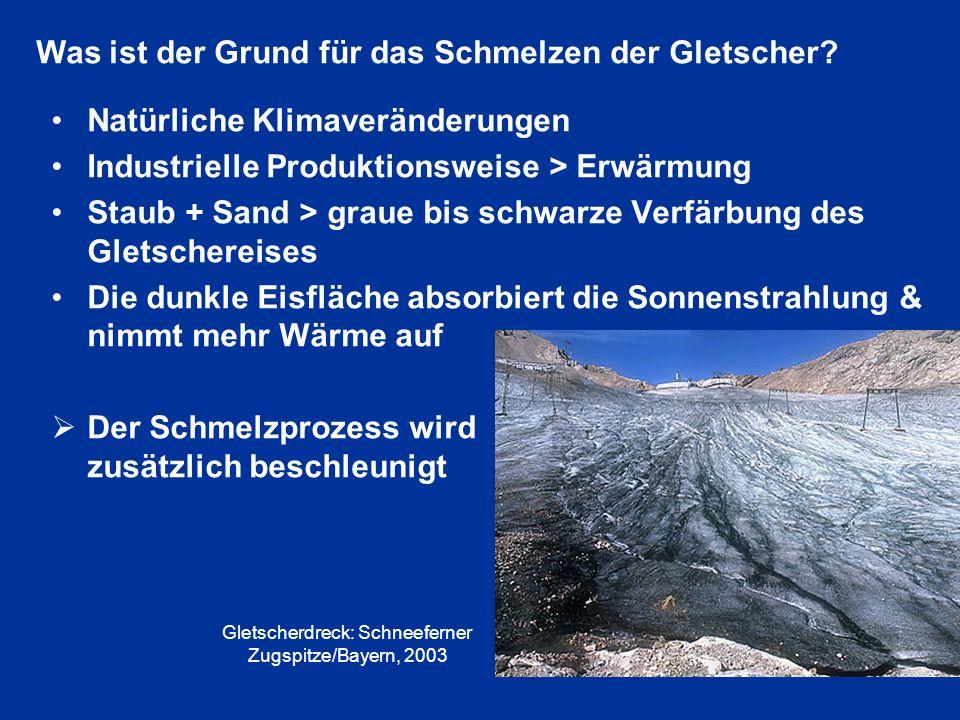 Gletscherdreck: Schneeferner Zugspitze/Bayern, 2003