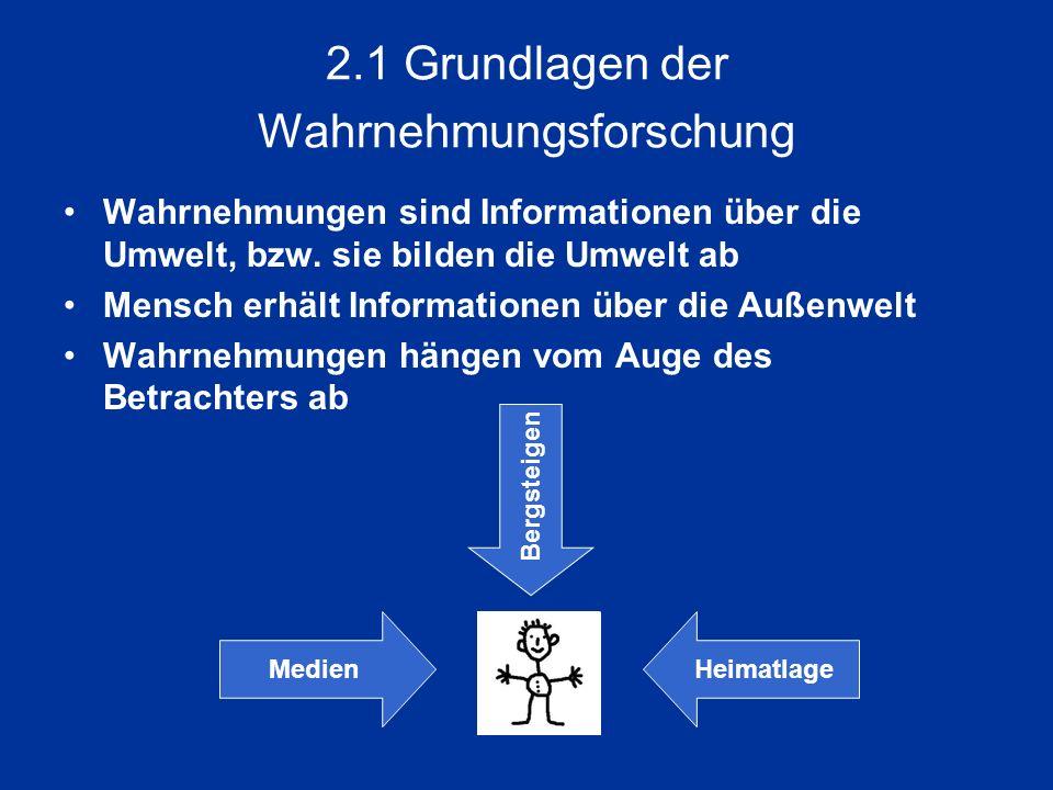 2.1 Grundlagen der Wahrnehmungsforschung
