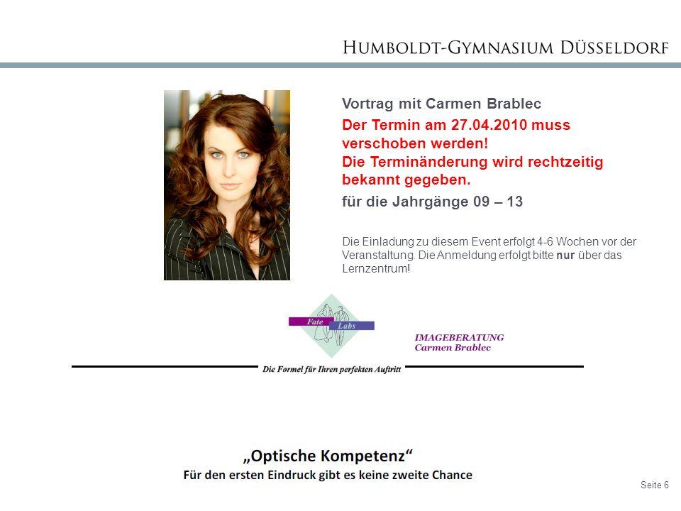 Vortrag mit Carmen Brablec