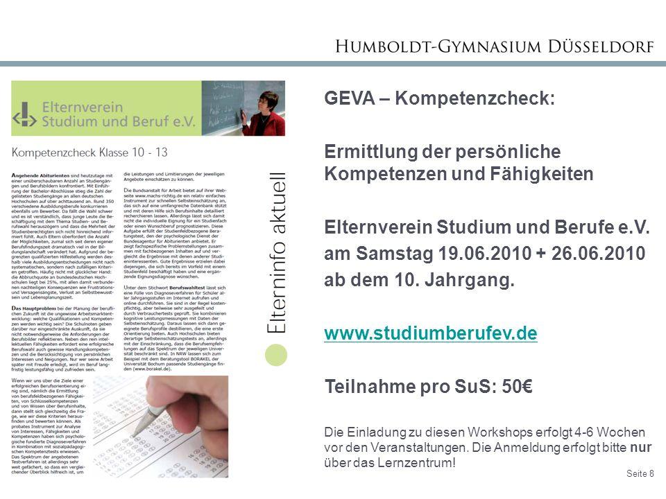 GEVA – Kompetenzcheck: