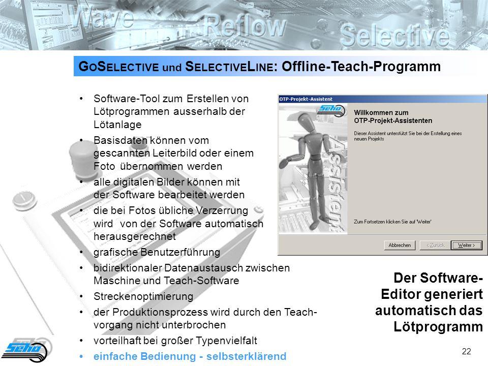 GOSELECTIVE und SELECTIVELINE: Offline-Teach-Programm