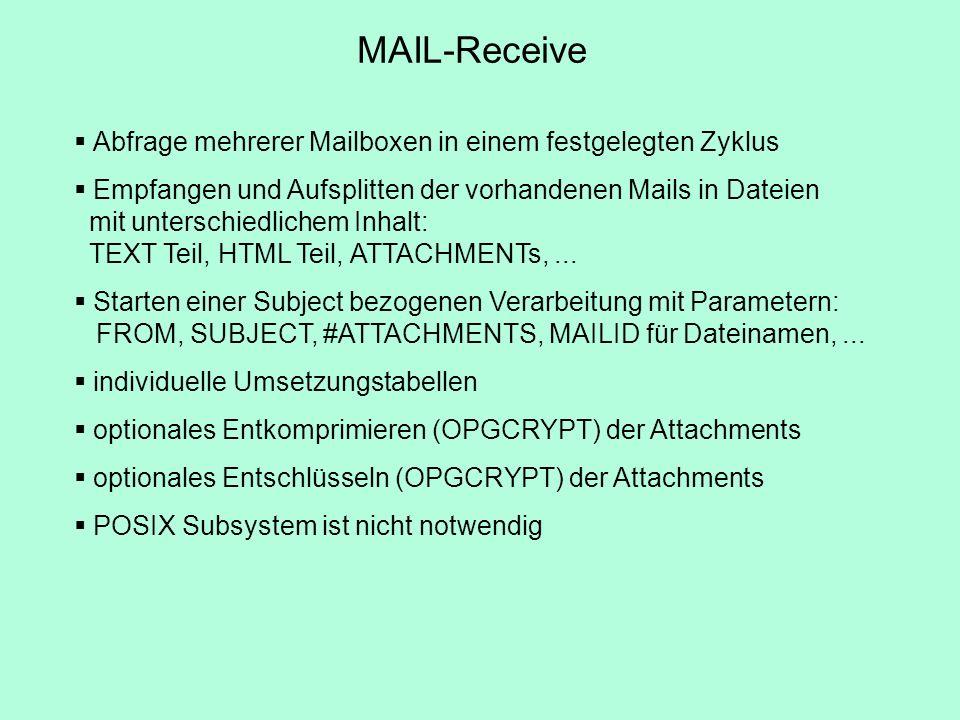 MAIL-Receive Abfrage mehrerer Mailboxen in einem festgelegten Zyklus