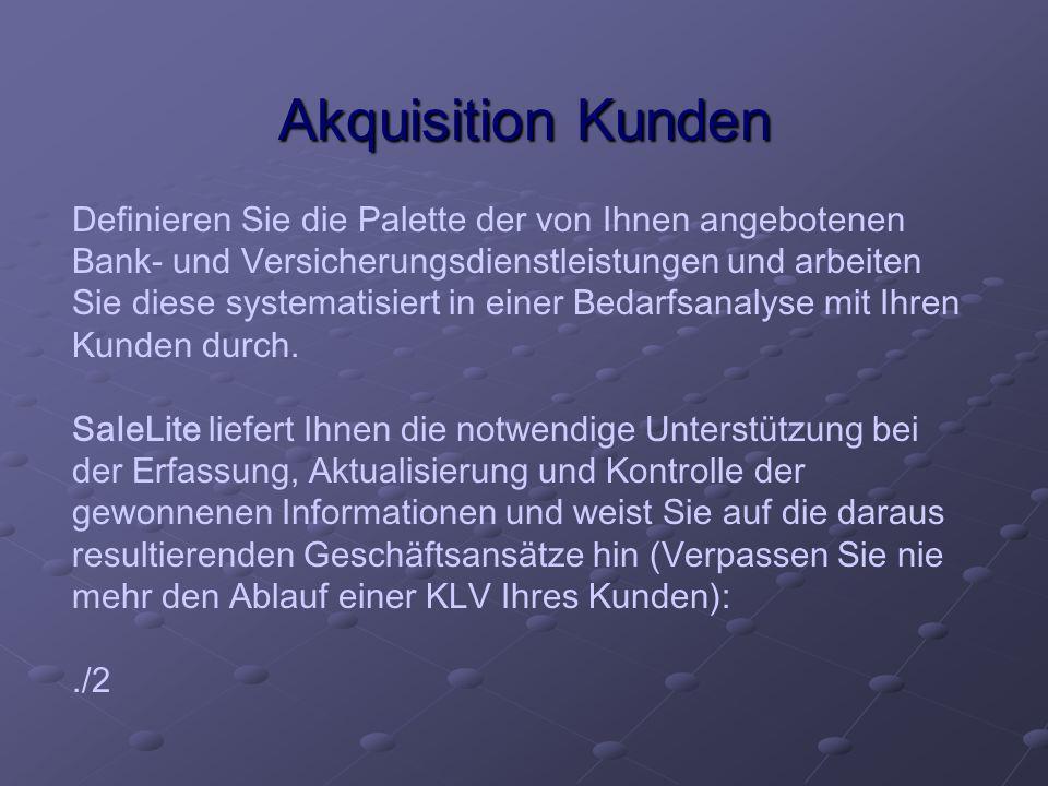 Akquisition Kunden