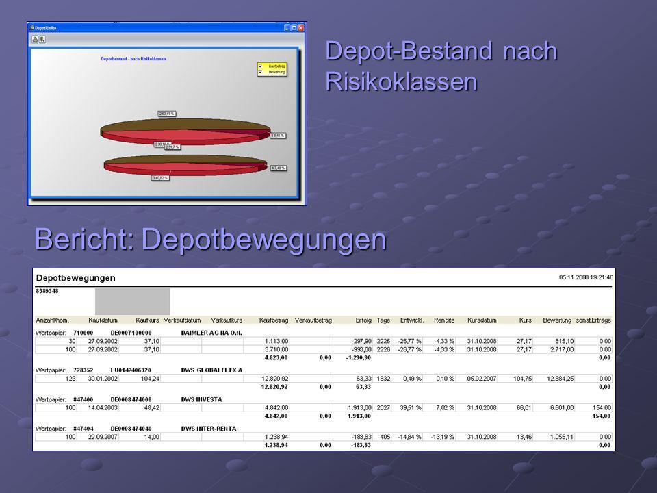 Depot-Bestand nach Risikoklassen