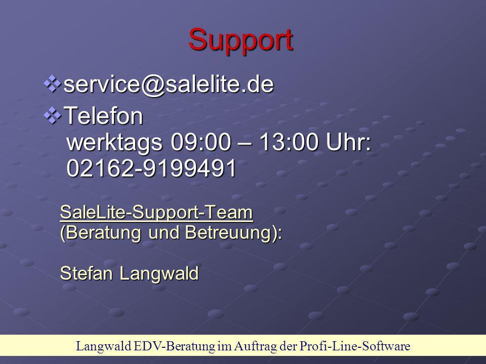 Langwald EDV-Beratung im Auftrag der Profi-Line-Software