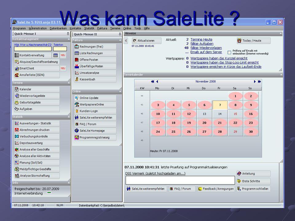 Was kann SaleLite