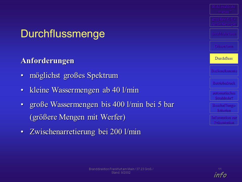 Branddirektion Frankfurt am Main / 37.23 Groß / Stand: 9/2002
