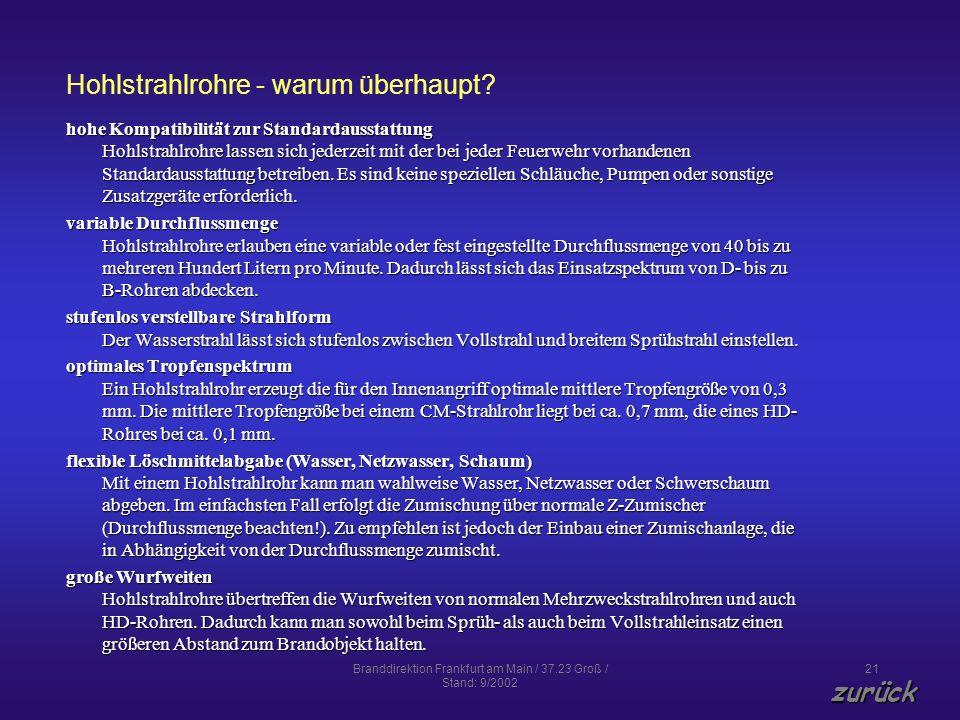 Hohlstrahlrohre - warum überhaupt