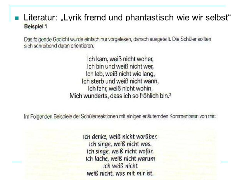 """Literatur: """"Lyrik fremd und phantastisch wie wir selbst"""