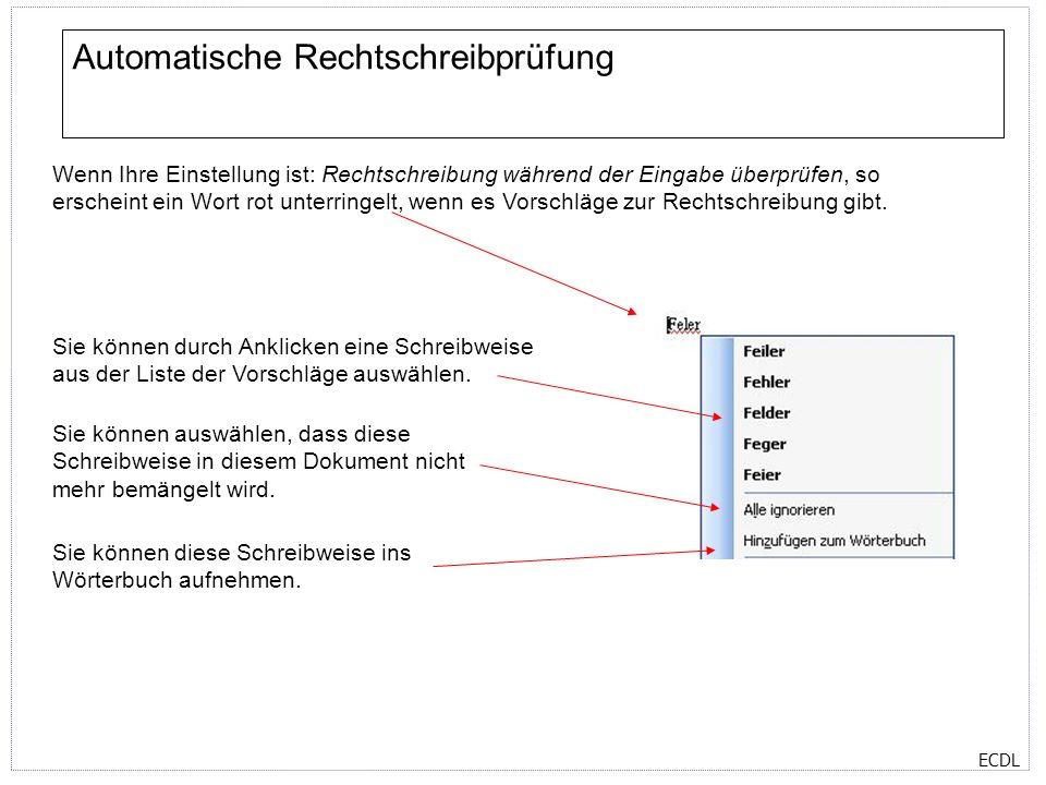 Automatische Rechtschreibprüfung