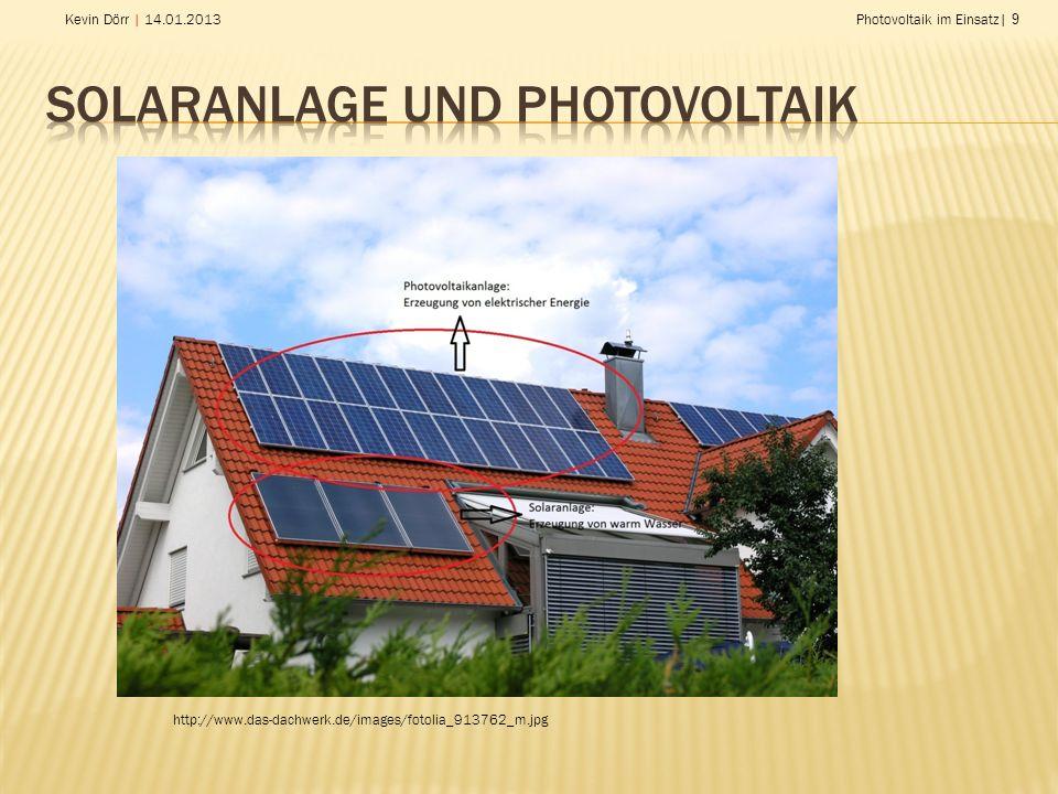 Solaranlage und Photovoltaik