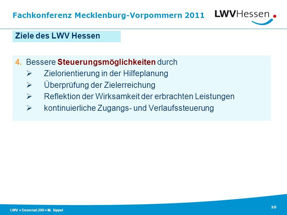 Ziele des LWV Hessen 4. Bessere Steuerungsmöglichkeiten durch.  Zielorientierung in der Hilfeplanung.