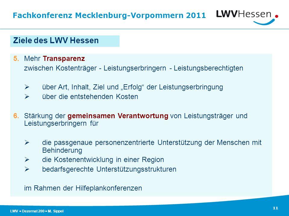 Ziele des LWV Hessen 5. Mehr Transparenz