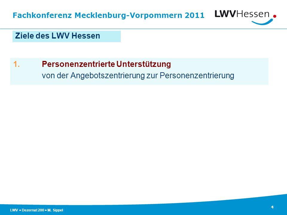 Ziele des LWV Hessen 1. Personenzentrierte Unterstützung.