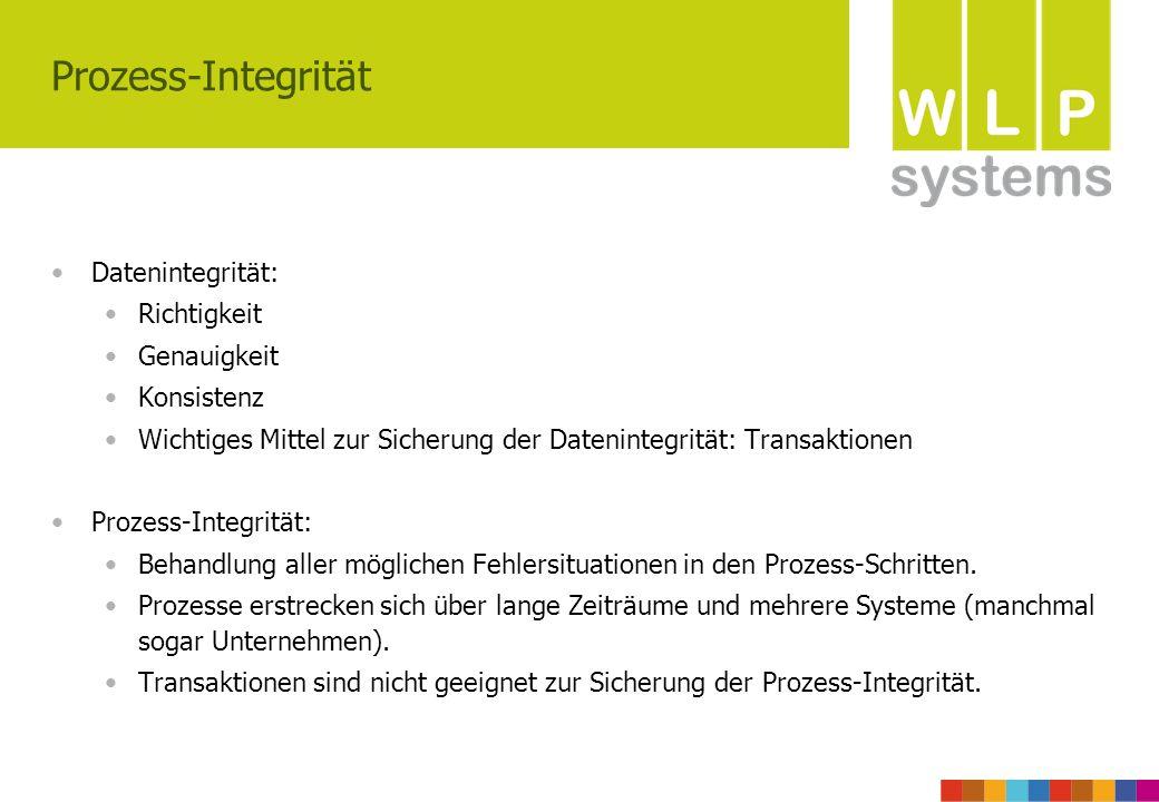 Prozess-Integrität Datenintegrität: Richtigkeit Genauigkeit Konsistenz
