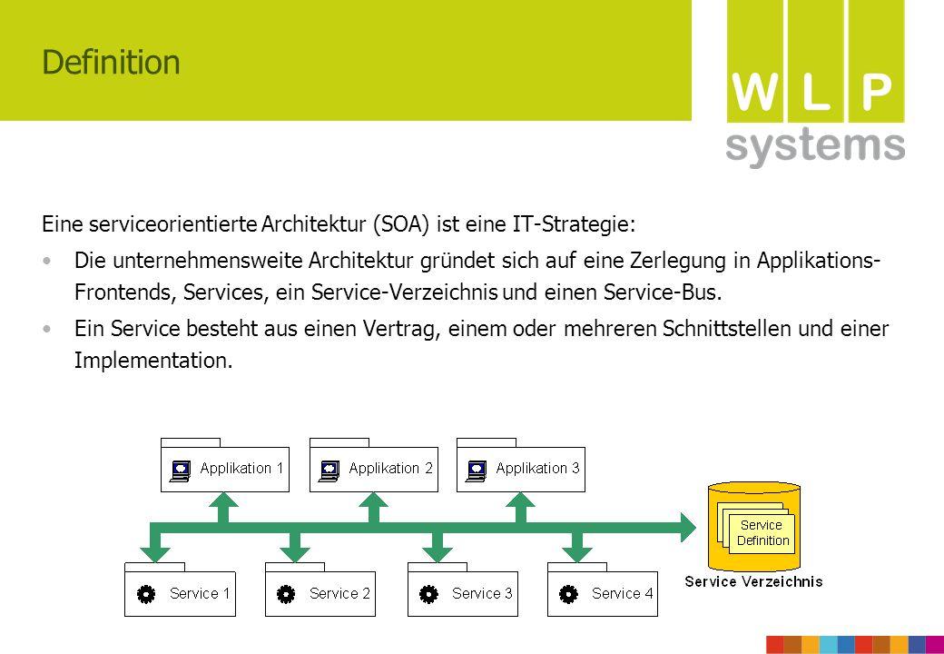 Definition Eine serviceorientierte Architektur (SOA) ist eine IT-Strategie: