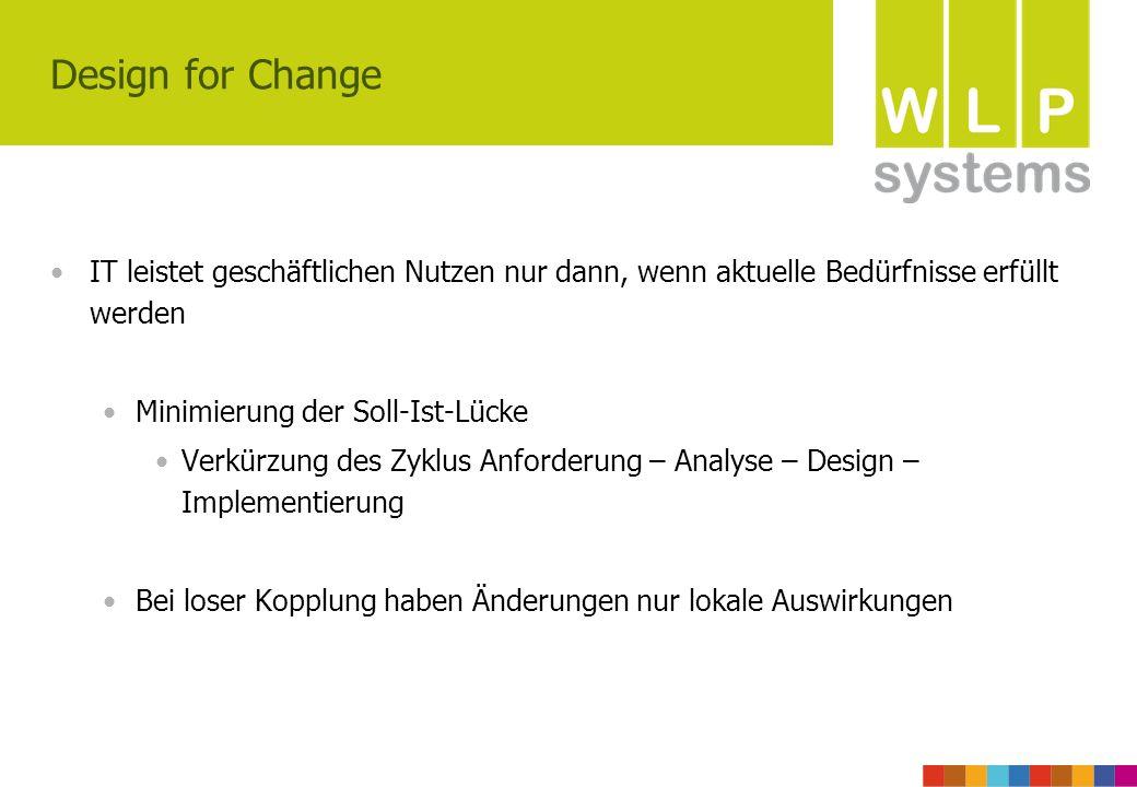 Design for Change IT leistet geschäftlichen Nutzen nur dann, wenn aktuelle Bedürfnisse erfüllt werden.