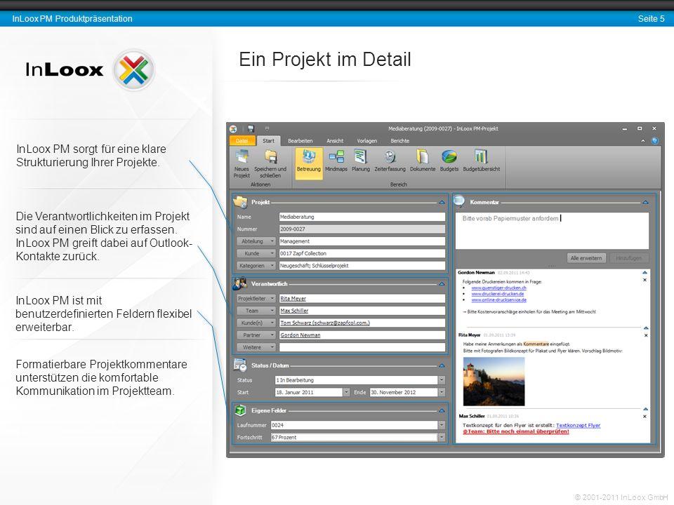 Ein Projekt im Detail InLoox PM sorgt für eine klare Strukturierung Ihrer Projekte.