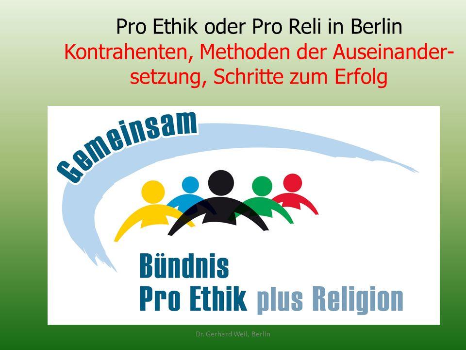 Pro Ethik oder Pro Reli in Berlin