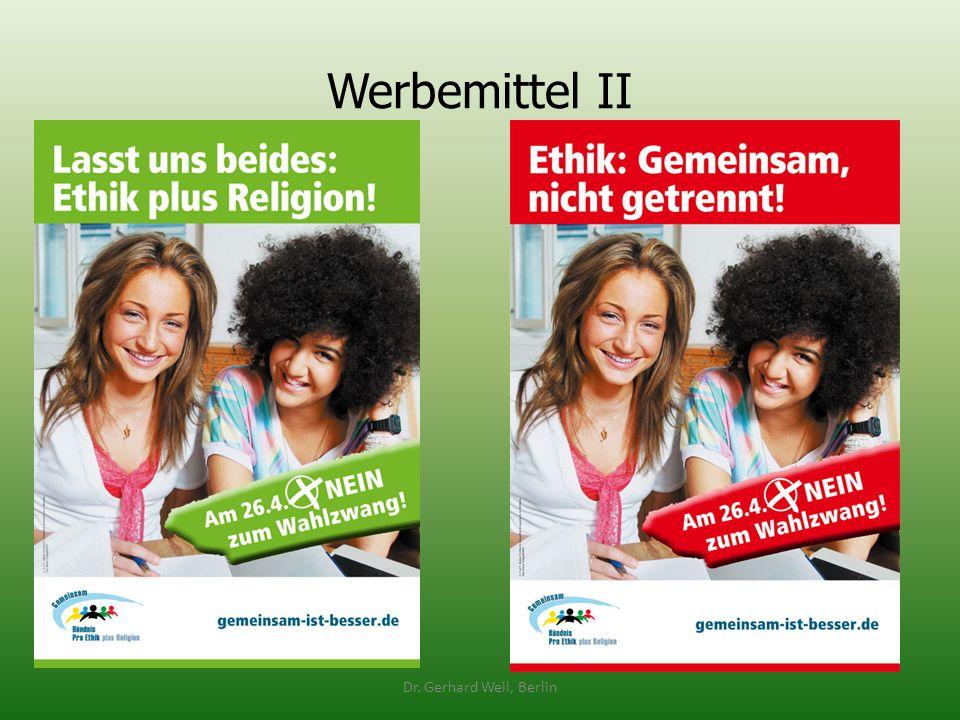 Werbemittel II Dr. Gerhard Weil, Berlin