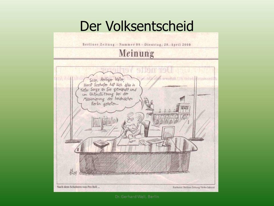 Der Volksentscheid Dr. Gerhard Weil, Berlin