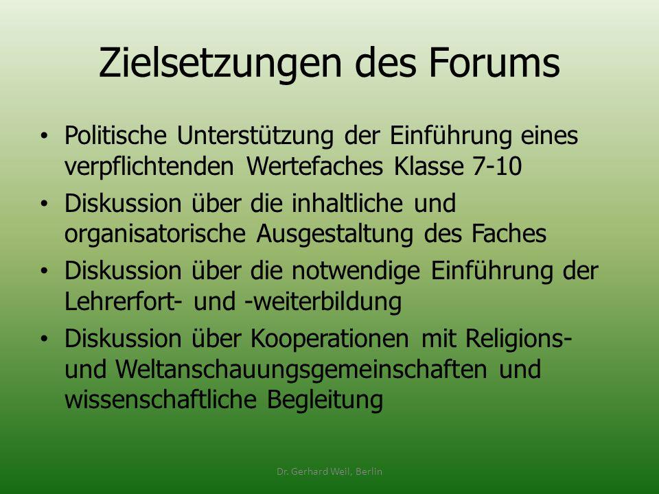 Zielsetzungen des Forums