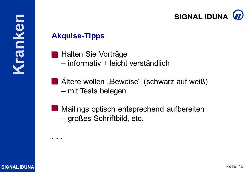 """Akquise-Tipps Halten Sie Vorträge. – informativ + leicht verständlich. Ältere wollen """"Beweise (schwarz auf weiß)"""