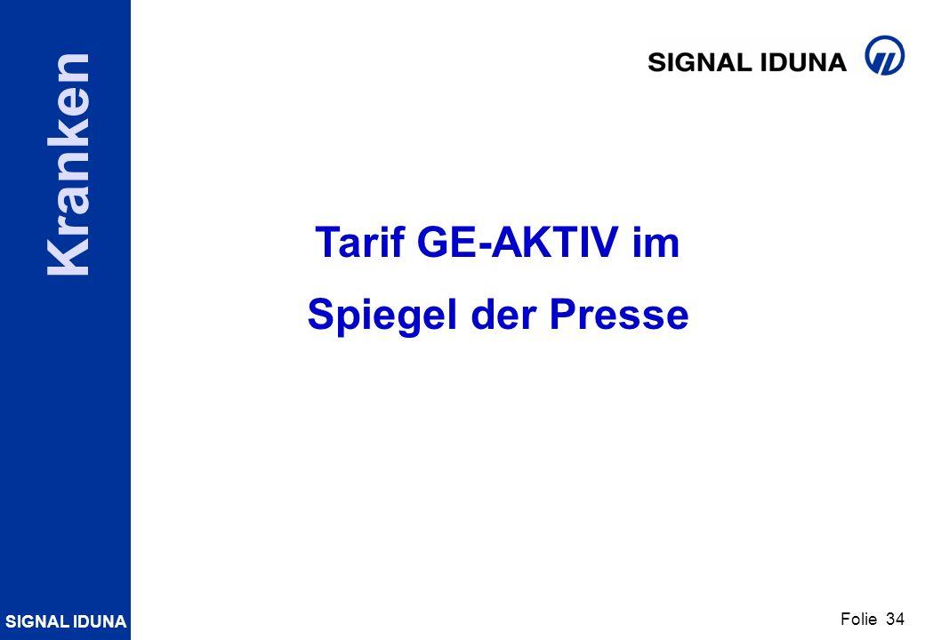 Tarif GE-AKTIV im Spiegel der Presse