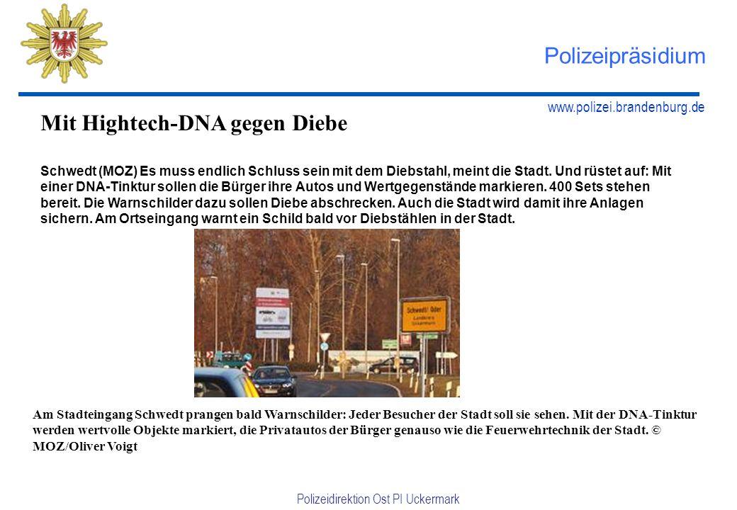 Mit Hightech-DNA gegen Diebe
