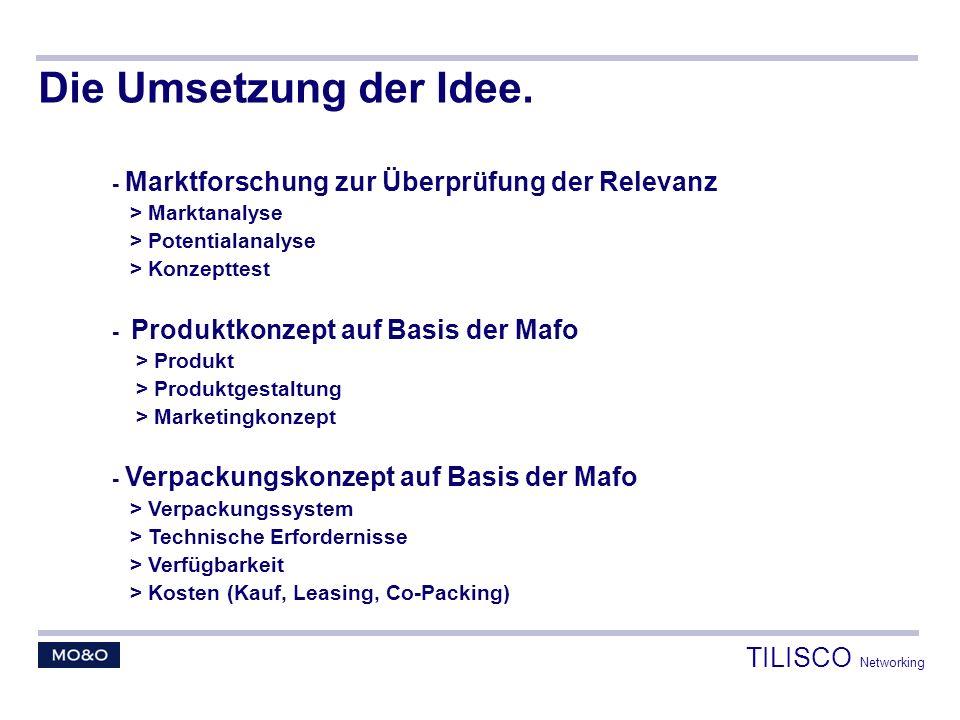 Die Umsetzung der Idee. TILISCO Networking