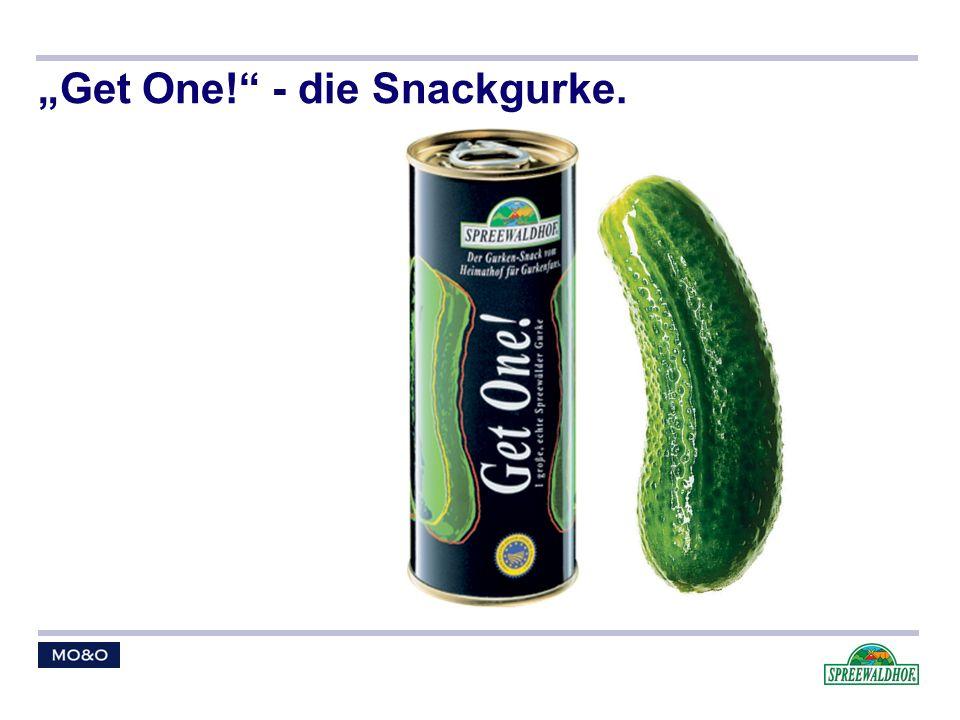 """""""Get One! - die Snackgurke."""